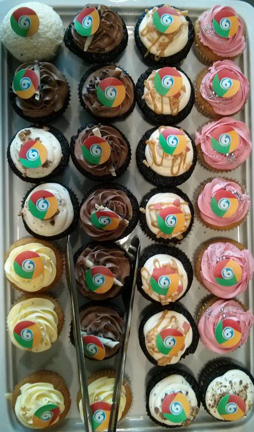 Am 02.09.2014 wurde Google Chrome sechs jahre alt. Gefeiert wurde mit Chrome-Cupcakes.